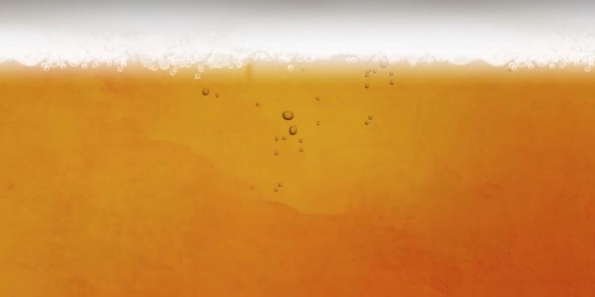 Kräftig-oranger Körper mit einer weißen Schaumkrone oben drauf.