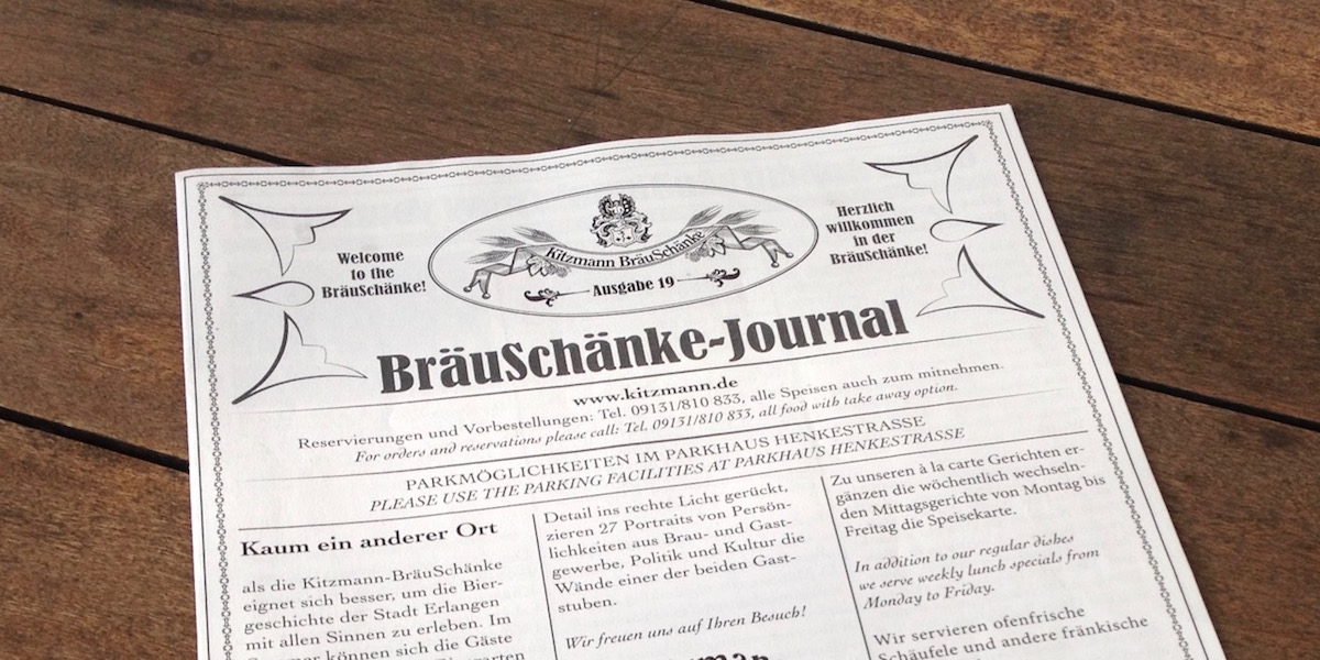 BräuSchänke-Journal (photo: Tim Kalbitzer)