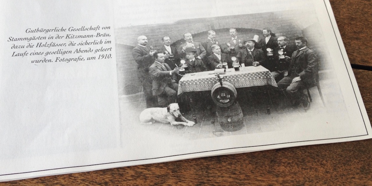 Regular guests in the Kitzmann-Bräu around 1910 (photo: Tim Kalbitzer)