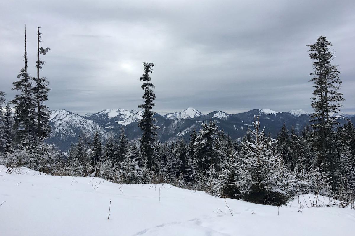 Winter hike on the Schliersberg