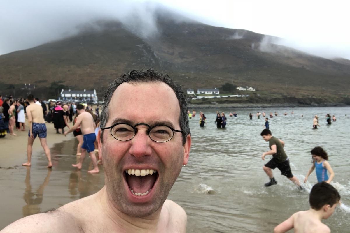 New Year's Day Swim on Achill Island